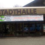 Aufführungstransparent Stadthalle Erkrath