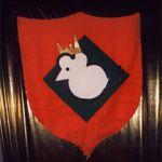 Das Logo der Unterfeldmäuse zum Wappen umfunktioniert.